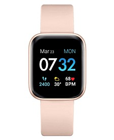 Air 3 Women's Touchscreen Smartwatch Fitness Tracker: Rose Gold Case with Blush Strap 40mm