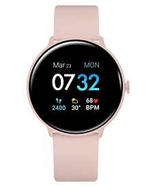 Women's Sport's Blush Silicone Strap Smart Watch 43.2mm