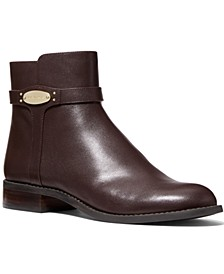 Finley Flat Leather Booties