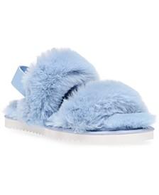 Pattel Faux-Fur Treaded Slippers