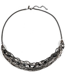 """Hematite-Tone Beaded Long Multi-Strand Necklace, 30"""" + 3"""" extender, Created for Macy's"""