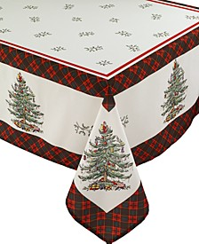 Christams Tree Tartan Multicolored 60x144 Tablecloth