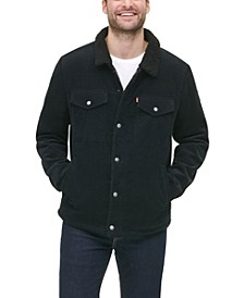 Men's Fleece-Lined Corduroy Trucker Jacket