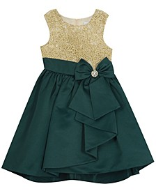Toddler Girl Embroidered Bodice With Hi-Low Skirt