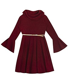 Big Girl Hacchi Cowl Neck Skater Dress