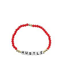Hustle 18k Gold Plated Crystal Bracelet