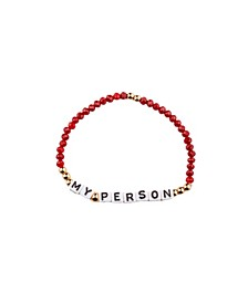 My Person 18k Gold Plated Crystal Bracelet