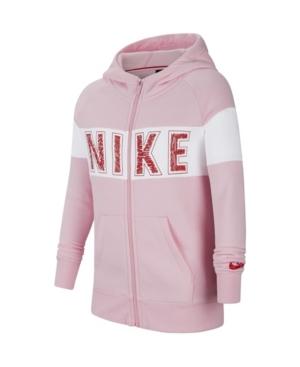 Nike SPORTSWEAR BIG GIRL'S GRAPHIC FULL-ZIP HOODIE