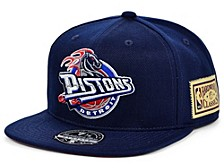 Detroit Pistons Championship Patch Fitted Cap