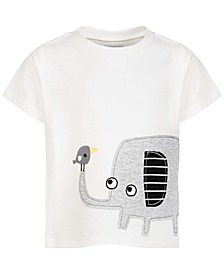 Baby Boys Elephant Cotton T-Shirt, Created for Macy's