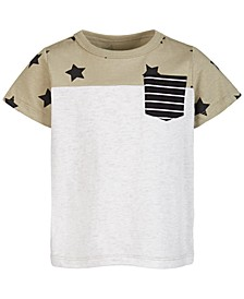 Baby Boys Stars Pocket Cotton T-Shirt, Created for Macy's