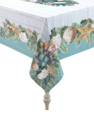 """Christmas By The Sea Tablecloth - 70"""" x 144"""""""