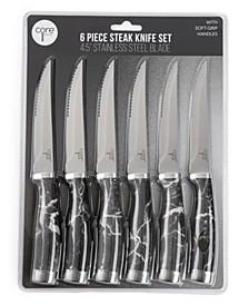 Set of 6 Essential Grip Steak Knives