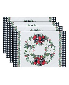Christmas Trimmings Placemat - Set of 4