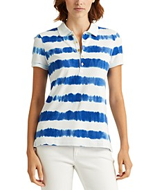 Plus-Size Tie-Dye Piqué Polo Shirt
