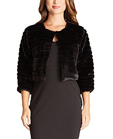 Juniors' Faux-Fur Shrug