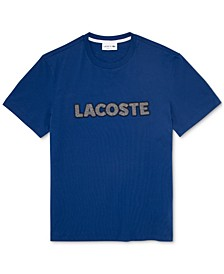 Men's Regular Fit Short Sleeve Crew Neck Jersey T-shirt with Lacoste Herringbone Logo