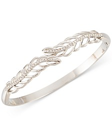 Silver-Tone Pavé Leaf Hinge Bracelet, Created for Macy's