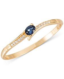 Gold-Tone Pavé & Oval Crystal Bypass Bangle Bracelet, Created for Macy's