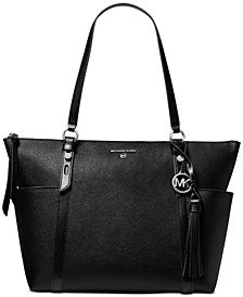 Nomad Large Leather Top-Zip Tote