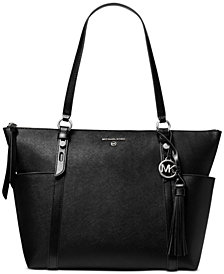 Michael Michael Kors Nomad Large Leather Top-Zip Tote
