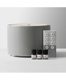 Diffuser Ultrasonic Aromatherapy Wood Lid and Ceramic LED with Sound 150mL