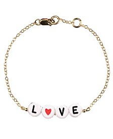 Love You 18k Gold Plated Bracelet Treat Pack