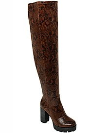 Women's Warning Over-the-Knee Boots