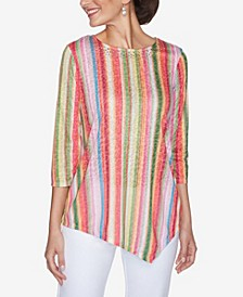 Plus Sizes Women's Candy Stripe Top