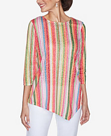 Ruby Rd. Plus Sizes Women's Candy Stripe Top