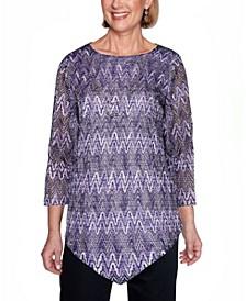 Women's Wisteria Lane Zigzag Textured Top