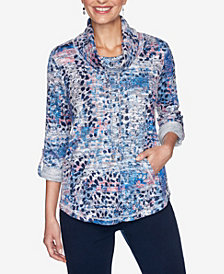 Ruby Rd. Plus Sizes Women's Animal Patchwork Pullover