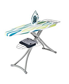 Ironing Board with Iron Rest and Shelf