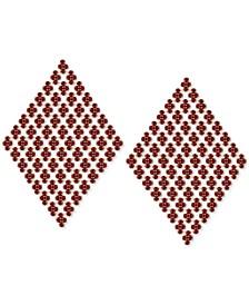 Crystal Mesh Kite Statement Earrings