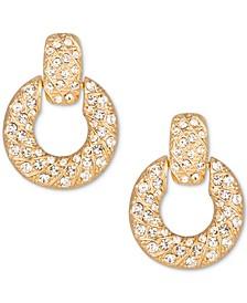 Gold-Tone Crystal Doorknocker Drop Earrings, Created for Macy's