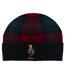 Men's Toggle Bear Plaid Hat