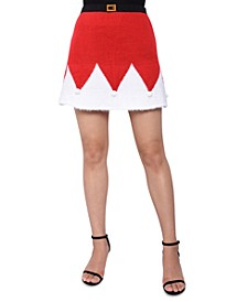 Juniors' Santa Sweater Mini Skirt