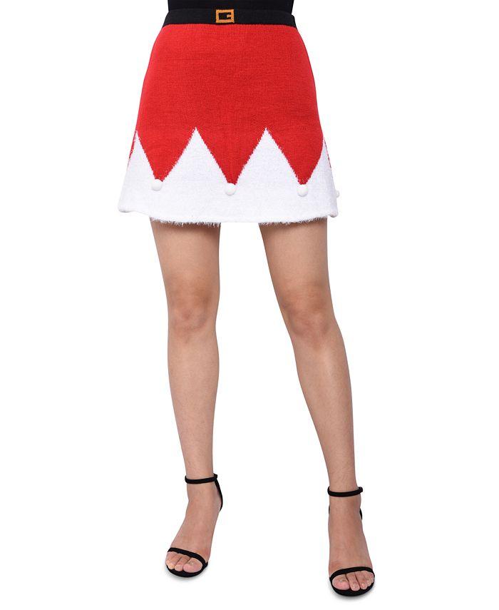 Planet Gold - Juniors' Santa Sweater Mini Skirt