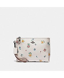 Wildflower Print Charlie 60 Leather Wristlet