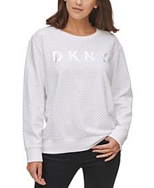 Stud-Detail Cotton Logo Sweatshirt