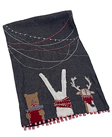 "Christmas Deer Applique Felt Runner, 16"" X 72"""