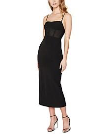 Roberta Ponte-Knit Midi Dress