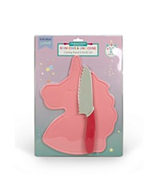 Rainbows and Unicorns Cutting Board and Knife Set