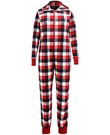 Matching Women's Buffalo Check Onesie Created for Macy's