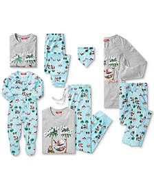 Matching Tropical Santa Pajama Collection, Created for Macy's