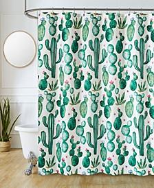 "Sutton Park Cactus Printed 70"" x 72"" Shower Curtain, 13 Piece"