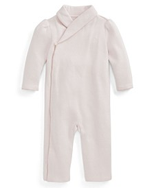 Ralph Lauren Baby Girls Shawl Collar Coverall