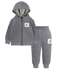 Baby Boys Fleece Full-Zip Hoodie and Joggers Set