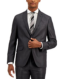Men's Techni-Cole Charcoal Suit Separate Slim-Fit Jacket