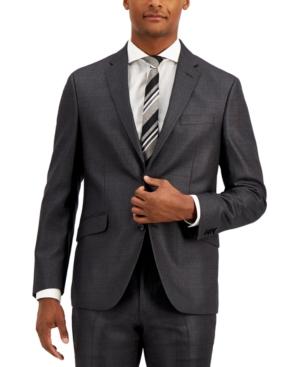 Men's Techni-Cole Gunmetal Suit Separate Slim-Fit Jacket